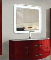 Зеркало в ванную комнату с подсветкой Мила размером 50 на 50 см